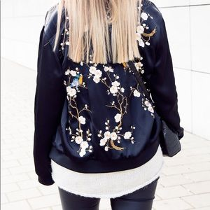 Zara Embroidered Bomber